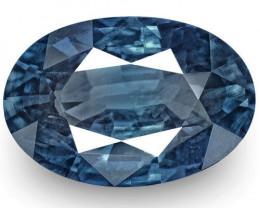 GIA Certified Kashmir Blue Sapphire, 6.23 Carats, Dark Royal Blue Oval