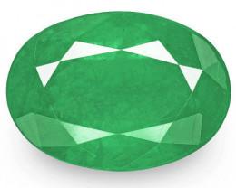 Zambia Emerald, 3.26 Carats, Medium Green Oval