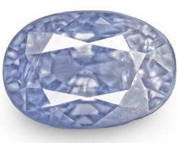 IGI Certified Burma Blue Sapphire, 4.11 Carats, Violetish Blue Oval