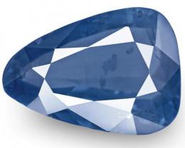 IGI Certified Burma Blue Sapphire, 3.44 Carats, Rich Velvety Blue Pear