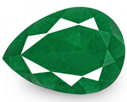 Colombia Emerald, 2.75 Carats, Rich Royal Green Pear