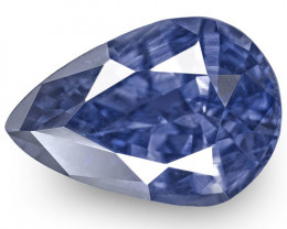 IGI Certified Sri Lanka Blue Sapphire, 1.09 Carats, Deep Blue Pear