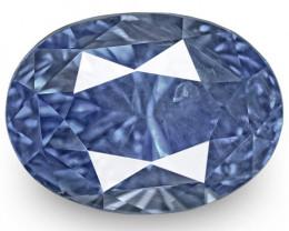 GIA Certified Sri Lanka Blue Sapphire, 6.21 Carats, Lustrous Intense Blue