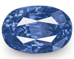 GIA Certified Sri Lanka Blue Sapphire, 3.54 Carats, Velvety Cornflower Blue