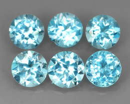 10.10 CTS AWESOME NICE QULITY MIXED 7.10 MM ROUND BLUE~SWISS NATURAL TOPA