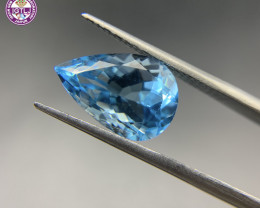 7.61 ct Blue Topaz Loose Gemstone - Natural Gemstone - SKY Blue