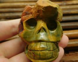 Ocean jasper carved skull decoration (G1026)