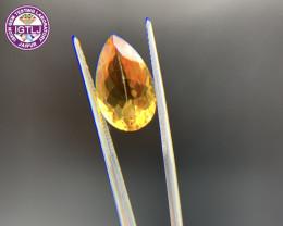 5.98 ct Citrine Loose Gemstone - Natural Gemstone - Pear Shape