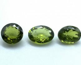 Lot of 3 Peridots 4.21 ct 3.67 ct 3.87 ct  Natural Gemstone