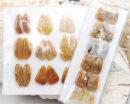 300Cts 26 parcel  Pairs Coral fossil  Gemstones  W1222