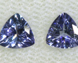 0.87 CTS  TANZANITE  FACETED  STONE  PAIR PG-2847