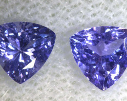 0.99 CTS  TANZANITE  FACETED  STONE PAIR PG-2851