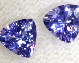 1.01 CTS  TANZANITE  FACETED  STONE  PAIR PG-2853