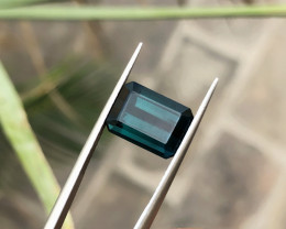 5 Ct Natural Dark Blueish Transparent Tourmaline Gemstone