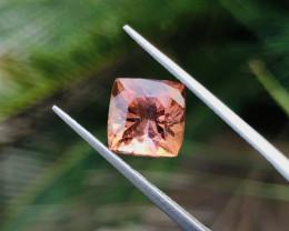 3.05 Ct Natural Orange Red Transparent Tourmaline Gemstone