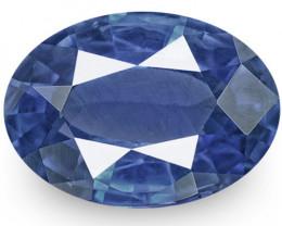 IGI Certified Sri Lanka Blue Sapphire, 0.86 Carats, Deep Blue Oval