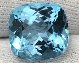 AIG Certificate Natural Blue Topaz 14.53 Carats From Nigeria