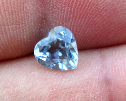 1.08cts Natural Aquamarine Heart Shape