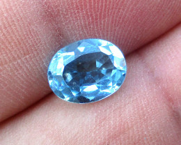 3.02cts Natural Swiss Blue Topaz Oval Cut