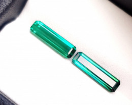 2.70 Ct Natural Blueish Green Transparent Tourmaline Gems Pairs