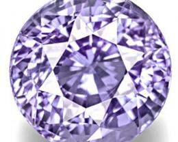IGI Certified Sri Lanka Fancy Sapphire, 7.08 Carats, Vivid Violet Round