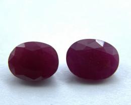 Rubies Lot of 2 gemstones 2.62 ct 2.71 ct Oval cut