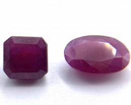 Rubies Lot of 2 gemstones 9.50 ct 9.63 ct