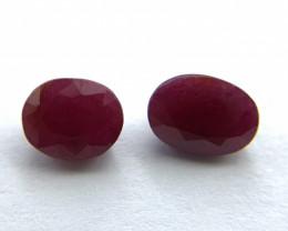Rubies Lot of 2 gemstones 2.27 ct 2.53 ct  Oval cut Natural Gemstone