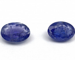 Tanzanite Lot of 2 gemstones 5.16 ct 5.30 ct Oval cut