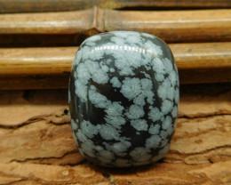 Snow flake obsidian cabochon (G1030)