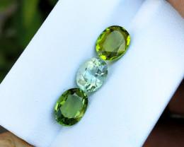 4.25 Ct Natural Green & Yellowish Transparent Tourmaline Gems Parcels