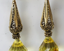 FACETED -AMBER 100% NATURAL- VERY NICE