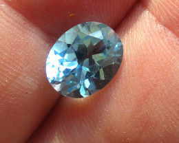 3.37cts Natural Swiss Blue Topaz Oval Cut
