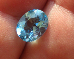 3.20cts Natural Swiss Blue Topaz Oval Cut