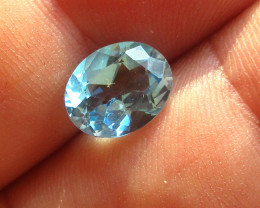 3.17cts Natural Swiss Blue Topaz Oval Cut