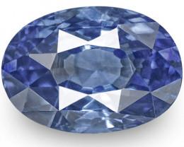 IGI Certified Sri Lanka Blue Sapphire, 1.11 Carats, Deep Blue Oval