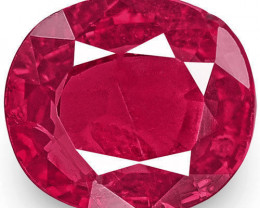 IGI Certified Burma Ruby, 0.92 Carats, Intense Pinkish Red Oval