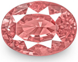 GRS Certified Madagascar Padparadscha Sapphire, 1.18 Carats, Oval