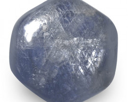IGI Certified Burma Trapiche Sapphire, 9.64 Carats, Hexagonal Tablet