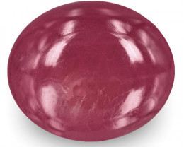 IGI Certified India Ruby, 12.18 Carats, Deep Pinkish Red Oval