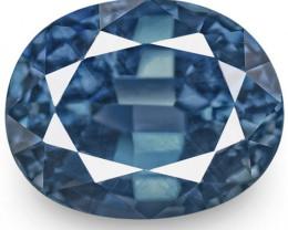 IGI Certified Madagascar Blue Sapphire, 2.20 Carats, Intense Blue Oval