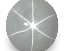 Sri Lanka Blue Star Sapphire, 16.25 Carats, Light Bluish Grey Round