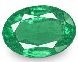 Zambia Emerald, 1.97 Carats, Deep Green Oval