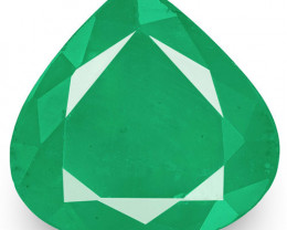 Zambia Emerald, 3.22 Carats, Velvety Intense Green Pear