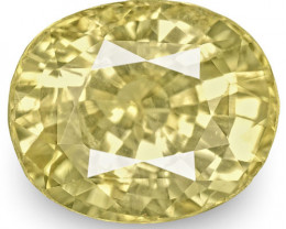 GIA Certified Sri Lanka Yellow Sapphire, 5.64 Carats, Lustrous Yellow Oval
