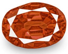 IGI Certified Madagascar Padparadscha Sapphire, 0.71 Carats, Fiery Orange