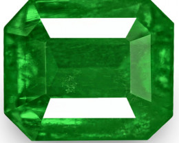 Colombia Emerald, 1.67 Carats, Rich Intense Royal Green Emerald Cut