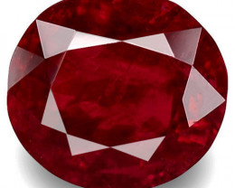 GRS Certified Mozambique Ruby, 1.70 Carats, Blood Red Oval