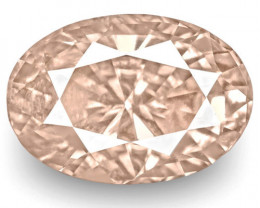 GIA Certified Sri Lanka Pink Sapphire, 1.25 Carats, Soft Orangy Pink Oval