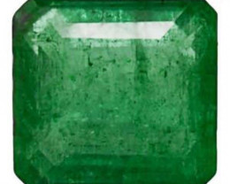 Colombia Emerald, 1.46 Carats, Intense Green Emerald Cut